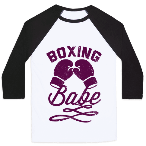 Boxing Babe (Vintage) Baseball Tee