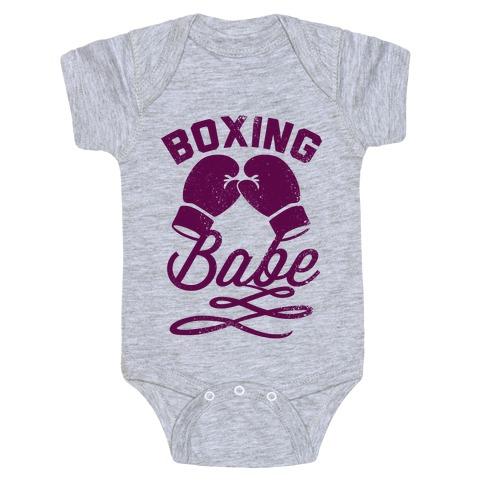 Boxing Babe (Vintage) Baby Onesy