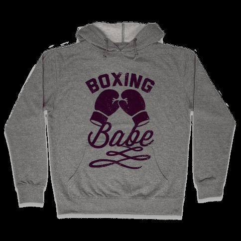 Boxing Babe (Vintage) Hooded Sweatshirt