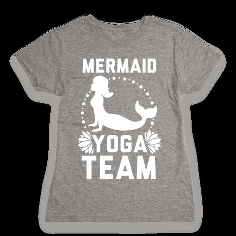 Mermaid Yoga Team Womens T-Shirt