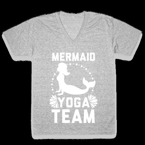 Mermaid Yoga Team V-Neck Tee Shirt