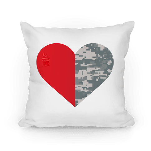 Half My Heart Is In The Military Pillow
