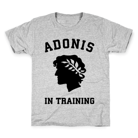 Adonis In Training Kids T-Shirt