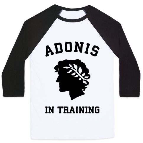 Adonis In Training Baseball Tee