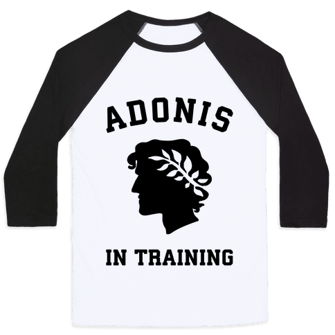 Adonis In Training Baseball Tee