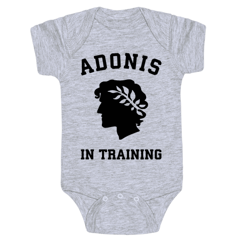 Adonis In Training Baby Onesy