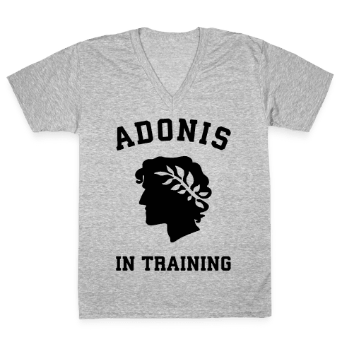 Adonis In Training V-Neck Tee Shirt