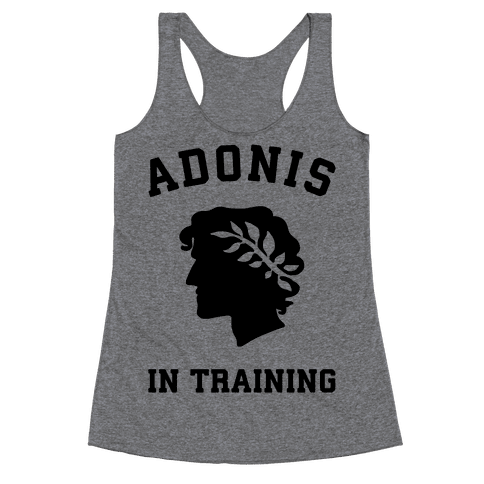 Adonis In Training Racerback Tank Top