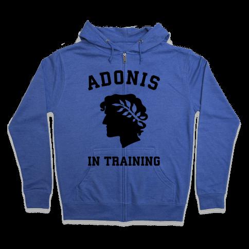 Adonis In Training Zip Hoodie