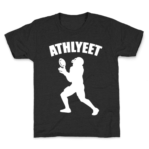 Athlyeet Football White Print Kids T-Shirt