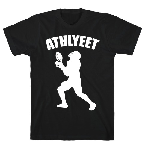 Athlyeet Football White Print T-Shirt
