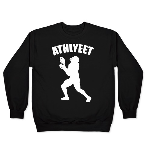 Athlyeet Football White Print Pullover
