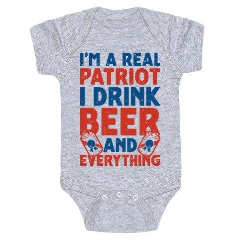 Real Patriot Baby Onesy