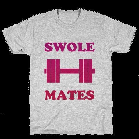 Swole Mates (hers) Mens T-Shirt