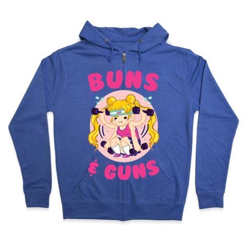 Buns & Guns Zip Hoodie