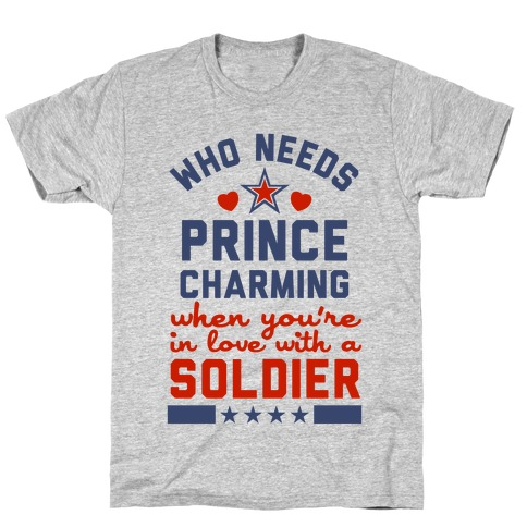 In Love with a Soldier (Military T-Shirt) T-Shirt