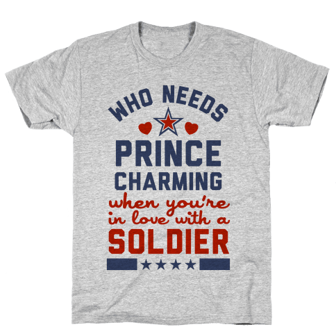 In Love with a Soldier (Military T-Shirt) Mens/Unisex T-Shirt