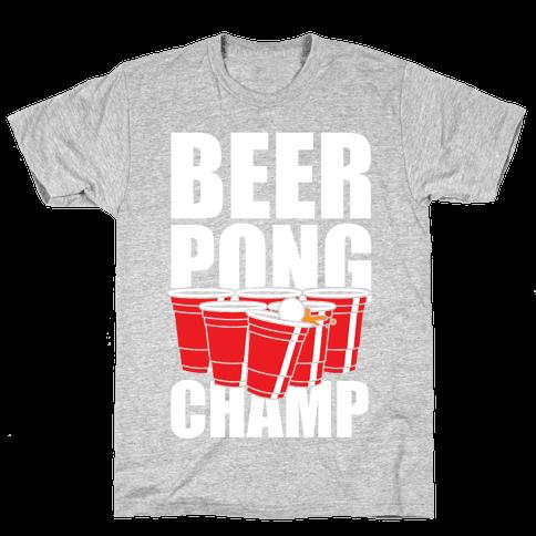 Beer Pong Champ Mens T-Shirt