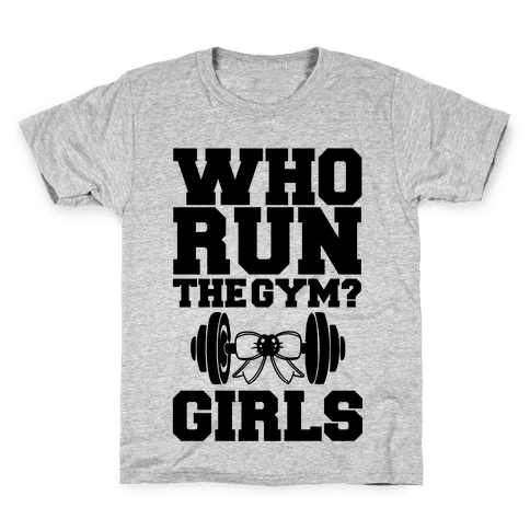 Girls Run the Gym Kids T-Shirt