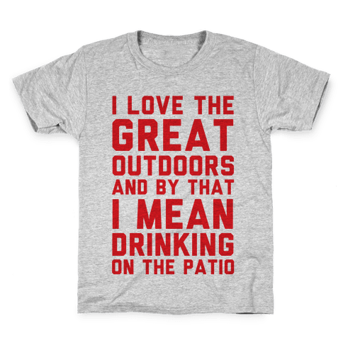 I Love The Great Outdoors Kids T-Shirt