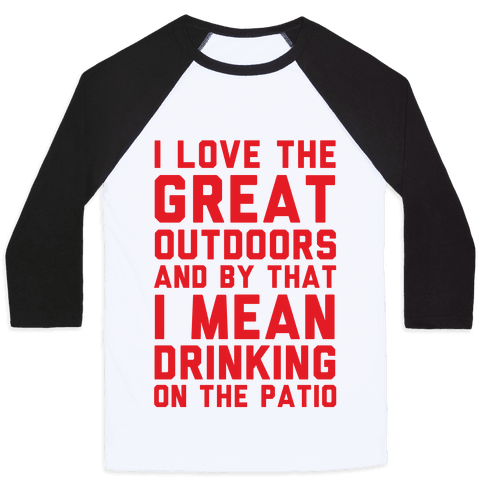 I Love The Great Outdoors Baseball Tee
