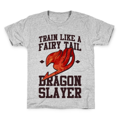 Train Like a Fairy Tail Dragon Slayer (Natsu) Kids T-Shirt