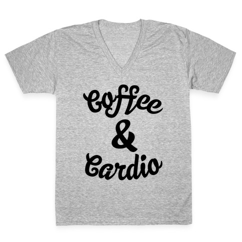 Coffee & Cardio V-Neck Tee Shirt