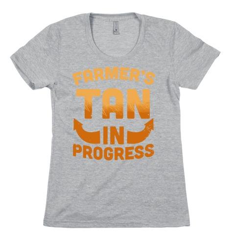 Farmer's Tan In Progress Womens T-Shirt