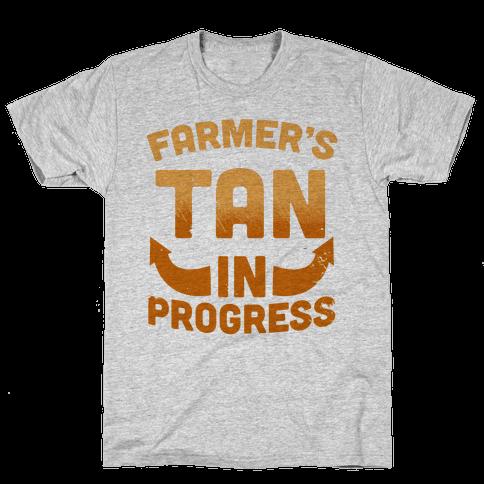 Farmer's Tan In Progress Mens T-Shirt