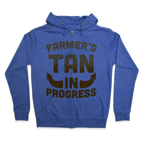 Farmer's Tan In Progress Zip Hoodie