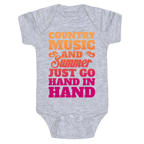 Country Music and Summer Baby Onesy