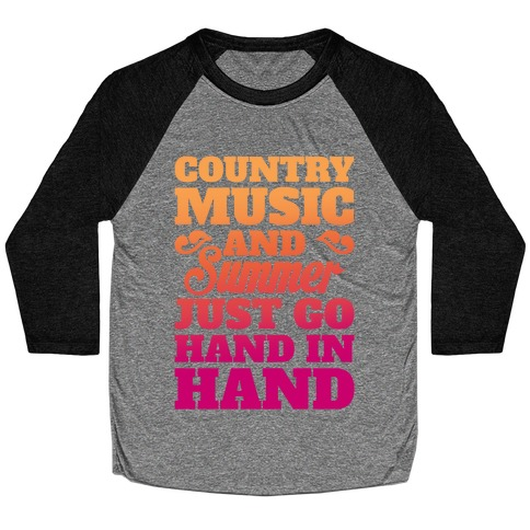 Country Music and Summer Baseball Tee