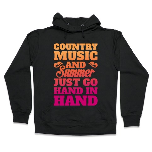 Country Music and Summer Hooded Sweatshirt