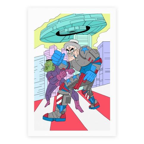 FDR, Cyborg President Poster