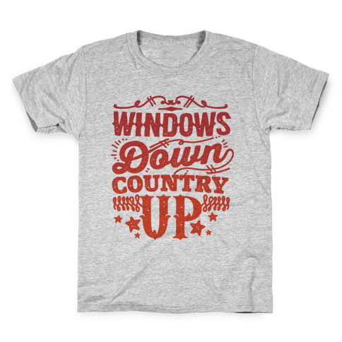 Windows Down Country Up Kids T-Shirt
