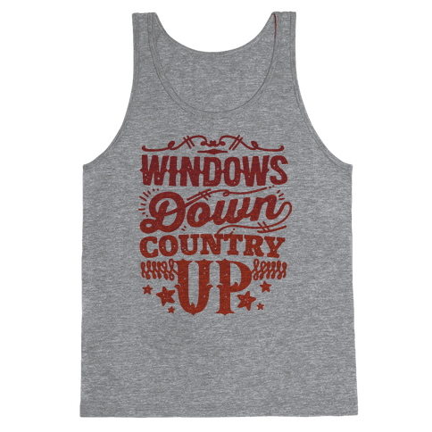 Windows Down Country Up Tank Top