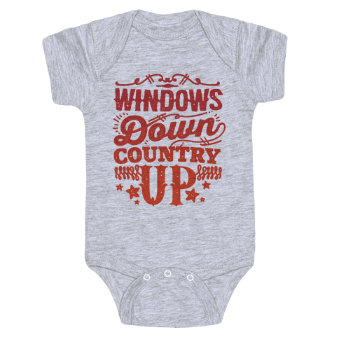 Windows Down Country Up Baby Onesy