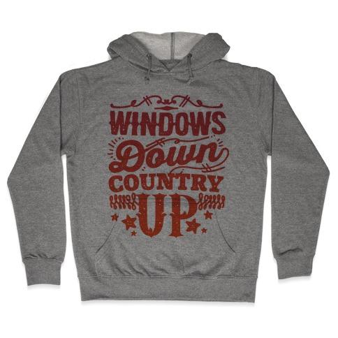 Windows Down Country Up Hooded Sweatshirt