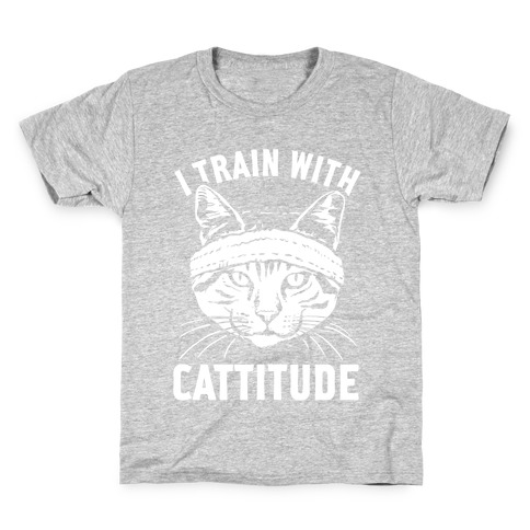 I Train With Cattitude Kids T-Shirt