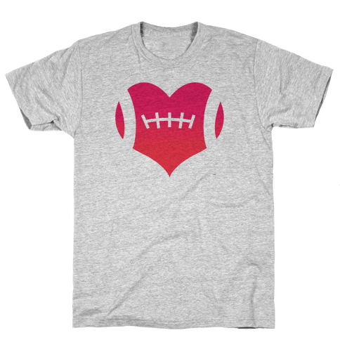 Football Heart Mens T-Shirt