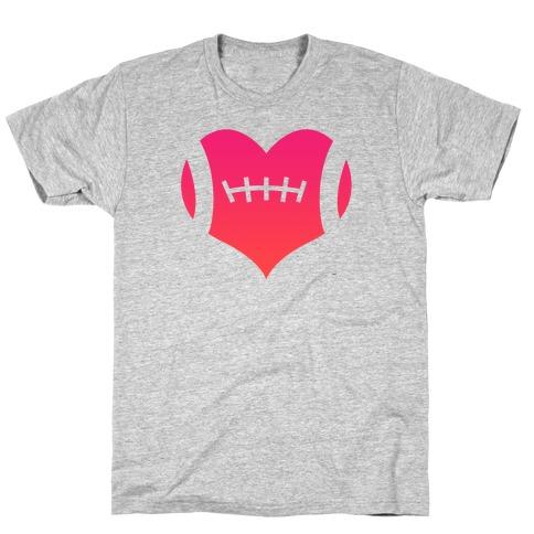 Football Heart Mens/Unisex T-Shirt
