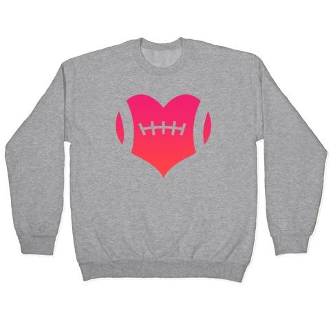 Football Heart Pullover