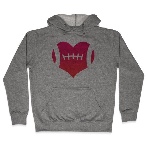 Football Heart Hooded Sweatshirt