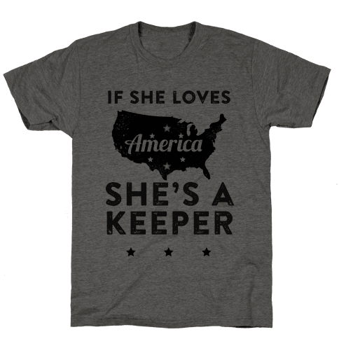 If She Loves America She's A Keeper (Patriotic Tank)