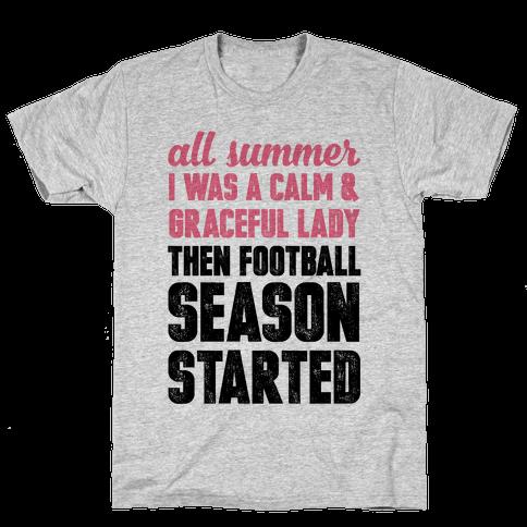 ...Then Football Season Started Mens T-Shirt