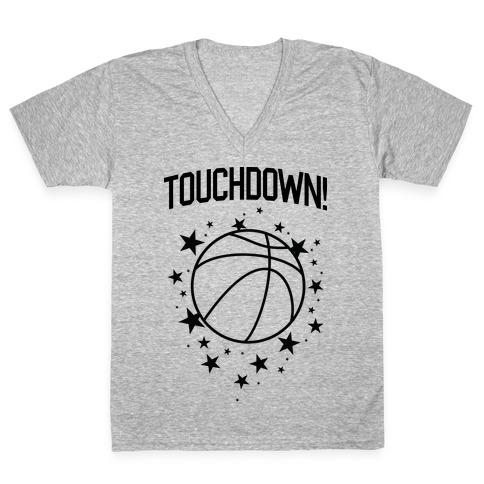 Touchdown! V-Neck Tee Shirt