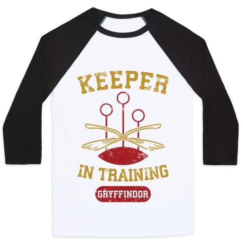 Keeper In Training (Gryffindor) Baseball Tee