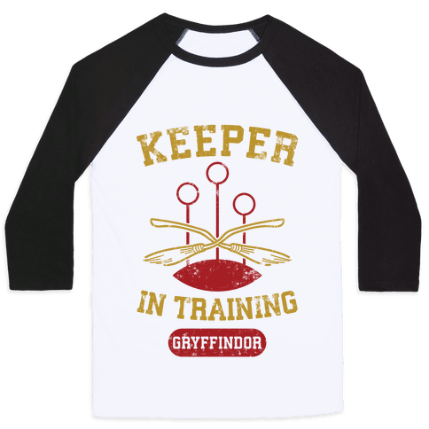 Keeper In Training (Gryffindor) Baseball Tee