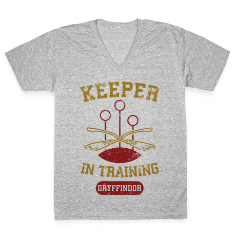 Keeper In Training (Gryffindor) V-Neck Tee Shirt