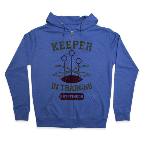 Keeper In Training (Gryffindor) Zip Hoodie